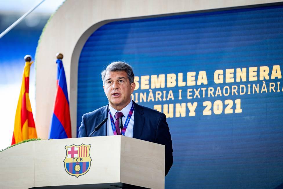 Fútbol.- Laporta, a UEFA por la Superliga: No nos harán pedir perdón por querer ser amos de nuestro destino