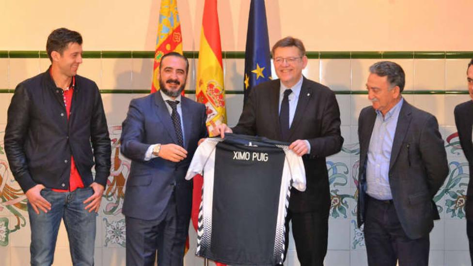 Ximo Puig en una recepción al CD Castellón
