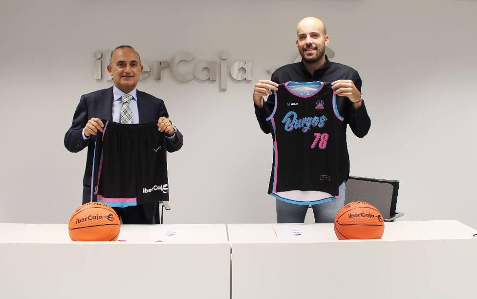 Firma del acuerdo de colaboración entre Ibercaja y el Club Baloncesto Femenino Burgos