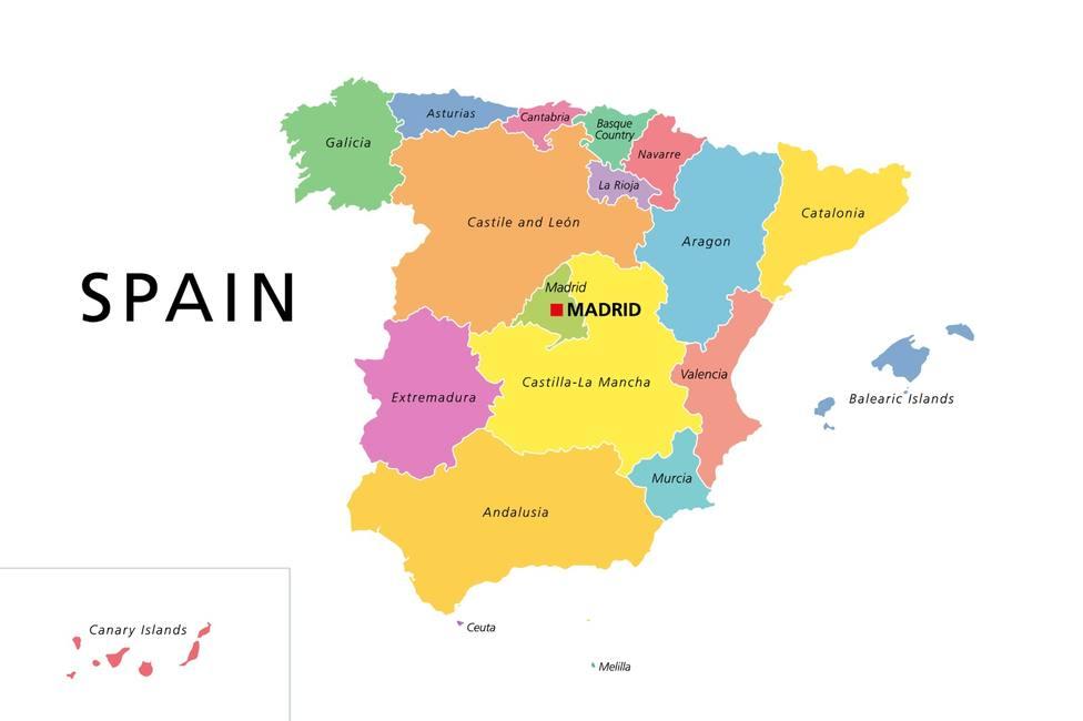 El mapa con las palabras más populares de cada región de España